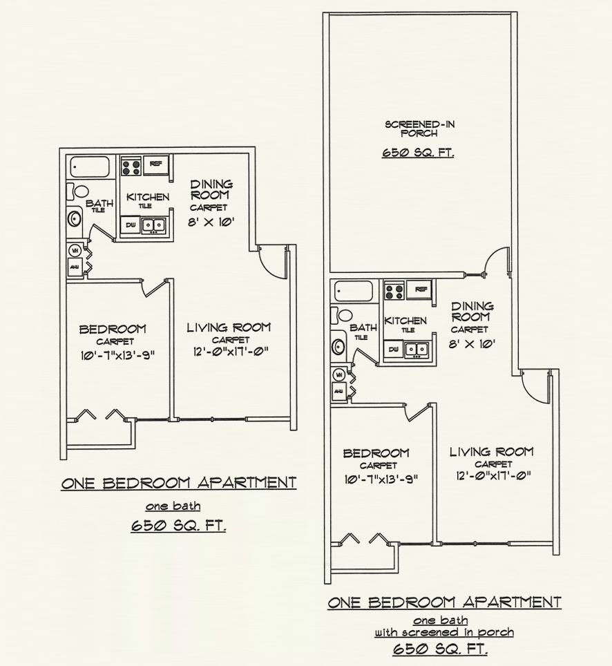 Beautiful 1 Bedroom Apartment Floor Plans Photos