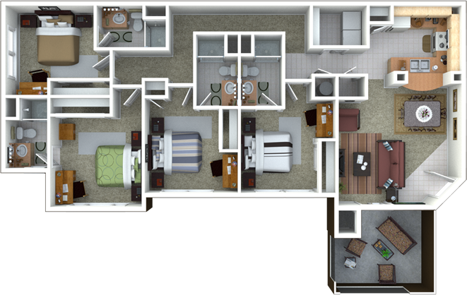 Campus lodge apartments student housing gainesville - Gainesville 1 bedroom apartments for rent ...