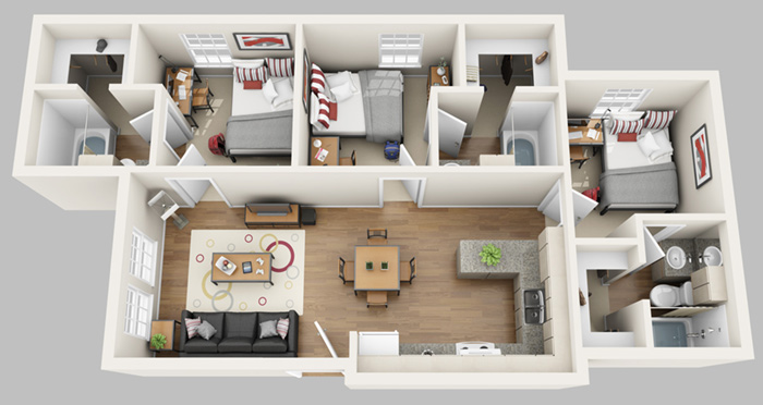 Gateway at glades gainesville student housing reviews - 3 bedroom apartments in gainesville fl ...